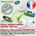 Détecteur de Mouvement SINOPower Micro-Ondes Éclairage Hyperfréquence LED Luminaire Ampoules 360° Capteur HF Automatique Radar Relais
