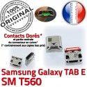 Samsung Galaxy TAB E SM-T560 USB Dock SM Prise T560 Pins à ORIGINAL Micro charge de souder 9 Chargeur Connector inch Connecteur Dorés