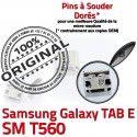 TAB E SM T560 USB Samsung Galaxy Connector SLOT à Chargeur ORIGINAL Pins Prise TAB-E Dorés SM-T560 charge Fiche Qualité Dock de MicroUSB souder