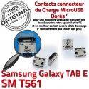 TAB E SM T561 USB Samsung Galaxy Pins Qualité Chargeur Fiche Dorés TAB-E charge SLOT de Prise Connector souder MicroUSB ORIGINAL à SM-T561 Dock