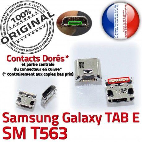 TAB E SM T563 USB Samsung Galaxy Chargeur Prise SM-T563 TAB-E Pins SLOT ORIGINAL Dock Fiche souder Connector à charge Dorés Qualité de MicroUSB