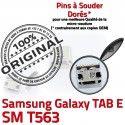 TAB E SM T563 USB Samsung Galaxy SLOT Dock Qualité MicroUSB TAB-E Dorés SM-T563 à Prise ORIGINAL Fiche Pins Connector souder Chargeur de charge