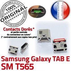 SM ORIGINAL SLOT USB Chargeur MicroUSB Galaxy Dock à Dorés TAB Fiche Connector E Pins Prise Samsung TAB-E T565 Qualité souder de charge SM-T565