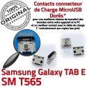 Samsung Galaxy TAB E SM-T565 USB ORIGINAL inch Prise Connector T565 de Connecteur 9 Pins à souder Micro Chargeur Dock SM charge Dorés