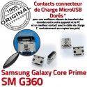 Samsung Prime SM-G360 USB Charge Galaxy Pins souder Core Micro Connector Qualité Connecteur G360 Dorés à Prise SM Chargeur charge de ORIGINAL
