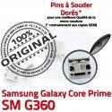 Samsung Prime SM-G360 USB Charge charge Prise G360 souder Galaxy Connector Core Connecteur ORIGINAL Micro à de Dorés SM Qualité Pins Chargeur