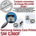 Samsung Prime SM G360F Micro USB Dorés Core Galaxy Fiche Dock MicroUSB Pins ORIGINAL souder charge Qualité Prise de Connector Chargeur à SM-G360F