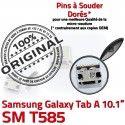 Samsung Galaxy Tab A T585 USB ORIGINAL TAB charge SM à Prise inch Connecteur Chargeur Pins Dock souder Connector Micro Dorés de 10.1