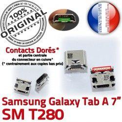 Samsung Connector Qualité Dock Pins ORIGINAL Tab-A Galaxy TAB-A MicroUSB SLOT Fiche charge souder Prise Dorés USB SM-T280 Chargeur à de