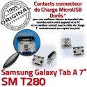 Samsung Galaxy Tab A T280 USB SM ORIGINAL inch TAB Chargeur charge 7 souder de à Dock Connecteur Pins Micro Connector Prise Dorés