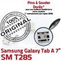 Samsung Galaxy Tab A T285 USB SM Pins ORIGINAL inch Dorés Micro de Connector Chargeur souder Connecteur Prise charge à TAB 7 Dock