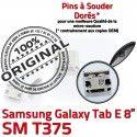 Samsung Galaxy Tab E T375 USB 8 Prise SM à Pins charge de Dorés inch Micro TAB Chargeur Connecteur Connector ORIGINAL souder Dock