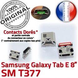 charge TAB Chargeur SM de inch Prise E Dorés Micro Tab Samsung Dock USB souder Pins 8 Connector T377 Connecteur ORIGINAL Galaxy à