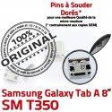 Samsung Galaxy Tab-A SM-T350 USB Dock charge Pins SLOT MicroUSB Chargeur Prise Connector ORIGINAL Qualité Dorés souder TAB-A de à Fiche