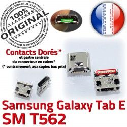 Dock SM-T562 E T562 Micro Samsung Pins ORIGINAL souder à charge TAB 9 Connecteur USB de SM Chargeur inch Prise Connector Dorés Galaxy