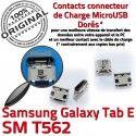 Samsung Galaxy TAB E SM-T562 USB Prise souder Chargeur inch à Connector ORIGINAL Dorés 9 charge Pins de T562 Micro SM Dock Connecteur