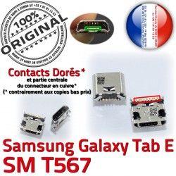 SLOT Qualité TAB-E MicroUSB à Fiche Chargeur de T567 USB Pins Connector Dorés souder ORIGINAL Galaxy TAB Dock Prise Samsung E SM-T567 charge SM
