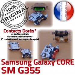 Galaxy Prise G355 Chargeur Core charge Connector Qualité PORT Charge Connecteur USB de Samsung à SM 2 Micro ORIGINAL Pins SM-G355 Dorés souder