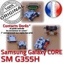Samsung Core SM G355H Micro USB Prise Pins PORT souder charge Dock Fiche Galaxy Chargeur de Qualité ORIGINAL Dorés SM-G355H Connector 2 à