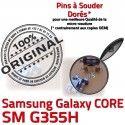 Samsung Core SM G355H Micro USB souder PORT Prise de Dorés charge Connector Pins Chargeur 2 SM-G355H Qualité ORIGINAL Dock Fiche Galaxy à