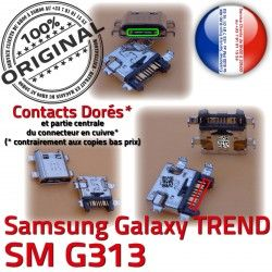 MicroUSB Chargeur DUOS charge S Prise G313 SM-G313 USB Pins Fiche Connector TREND souder Galaxy Dorés ORIGINAL SM Dock à Micro Qualité Samsung de