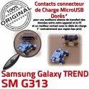 TREND S DUOS SM-G313 USB Charge Chargeur souder Connector SM Galaxy Qualité charge Dorés Prise de Pins Connecteur à Micro Samsung ORIGINAL G313