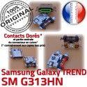 TREND DUOS SM-G313HN USB Charge Connector de souder Qualité à Samsung Micro Pins charge Connecteur Prise Galaxy Chargeur Dorés SM G313HN ORIGINAL