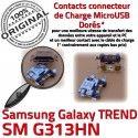 TREND DUOS SM-G313HN USB Charge Prise Micro Dorés Qualité Connector Pins souder ORIGINAL SM de Samsung Connecteur charge Chargeur G313HN Galaxy à