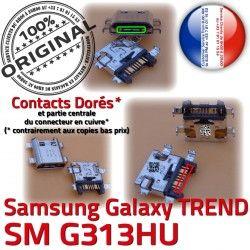 Fiche à SM-G313HU Connector TREND Chargeur ORIGINAL SM charge Prise Samsung DUOS souder Dock G313HU USB Galaxy Pins Qualité Dorés MicroUSB Micro S de