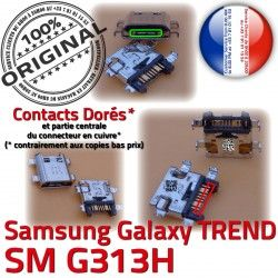 DUOS SM-G313H Chargeur Samsung ORIGINAL SM à Connecteur Charge Micro Galaxy S Pins charge Dorés Qualité G313H Connector souder de TREND USB Prise