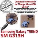 TREND S DUOS SM-G313H USB Charge Pins G313H Samsung Prise Galaxy charge Qualité de ORIGINAL Connecteur souder à Connector Dorés Micro SM Chargeur