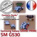 GRAND PRIME SM G530 Micro USB Qualité Pins Connector Fiche MicroUSB ORIGINAL Galaxy SM-G530 Dorés de souder Dock à Chargeur charge Prise Samsung