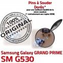 GRAND PRIME SM-G530 USB Charge Connector de Chargeur à charge Doré SM Qualité Prise souder ORIGINAL G530 Micro Galaxy Samsung Connecteur