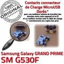 GRAND PRIME SM-G530F USB Charge souder Doré Chargeur Connector Micro à Galaxy Samsung Prise Connecteur charge de G530F ORIGINAL Qualité SM