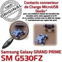 GRAND PRIME SM-G530FZ USB Charge Chargeur Connecteur charge Prise Micro SM Samsung Galaxy souder Qualité Connector de à G530FZ Doré ORIGINAL