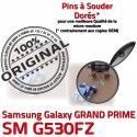 GRAND PRIME SM-G530FZ USB Charge Connecteur Galaxy charge Qualité de SM Connector Micro Chargeur Samsung à ORIGINAL Prise G530FZ Doré souder