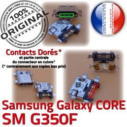 Core Plus Micro SM Samsung Charge Connecteur Prise Chargeur Dorés Pins charge Connector Galaxy ORIGINAL SM-G350F à Qualité souder de USB G350F