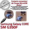 Samsung Core SM-G350F USB Charge à Connector Qualité Galaxy Connecteur Chargeur ORIGINAL Pins Prise souder Micro Plus charge de G350F Dorés SM