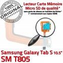 SM-T805 Micro USB TAB-S Charge Contacts Nappe ORIGINAL T805 Samsung Galaxy Chargeur SM Connecteur S Lecteur SD TAB de Dorés Réparation Qualité