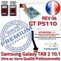 Galaxy TAB 2 GT-P5110 REV R 04 B 10.1 en Ecran Blanche GT Qualité Adhésif TAB2 P5110 Assemblée Samsung Tactile Vitre PREMIUM LCD Verre Prémonté