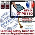 Galaxy TAB-2 GT P5110 REV R04 N PREMIUM Samsung en Ecran Noir 10.1 Adhésif Tactile Vitre LCD Qualité Supérieure Verre Prémonté