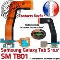 SM-T801 Micro USB TAB-S Carte SD PORT Connecteur Lecteur Mémoire Samsung TAB S T801 SM Charge Chargeur ORIGINAL Nappe de Qualité Galaxy