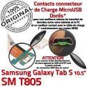 SM-T805 Micro USB TAB-S Carte SD T805 de Lecteur TAB Nappe SM Qualité Charge Galaxy ORIGINAL Connecteur Mémoire S PORT Chargeur Samsung