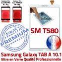 Samsung Galaxy TAB A SM-T580 B Vitre Ecran 10.1 Blanc Supérieure T580 Qualité aux SM Verre TAB-A PREMIUM Chocs Tactile Blanche en Résistante