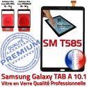 Samsung Galaxy TAB A SM-T585 N Chocs Tactile T585 PREMIUM Noir Vitre Supérieure 10.1 Ecran Noire aux Verre SM TAB-A Qualité en Résistante