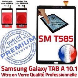 SM-T585 Tactile Qualité A PREMIUM Vitre Supérieure 10.1 N Galaxy en aux Chocs Résistante inch Verre Ecran TAB-A Noir Samsung Noire TAB