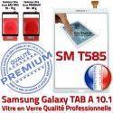 Galaxy Samsung TAB A SM-T585 B Qualité 10.1 Verre inch PREMIUM Résistante Vitre Supérieure aux Chocs Blanche TAB-A Tactile Ecran Blanc