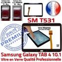 Galaxy SM-T531 Tab4 Noire Verre Complet Samsung Qualité Adhésif Tactile Assemblée Écran Prémonté Noir PREMIUM TAB4 Vitre Complète en
