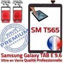 Galaxy TAB E SM-T565 Vitre Noir PREMIUM 9.6 Assemblée Supérieure Ecran Noire Verre T565 Prémonté Tactile Adhésif SM Samsung Qualité TAB-E