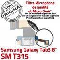 Samsung Galaxy SM-T315 TAB3 Ch T315 Dorés TAB MicroUSB Nappe de Réparation Connecteur Qualité Contacts Charge SM 3 ORIGINAL OFFICIELLE Chargeur